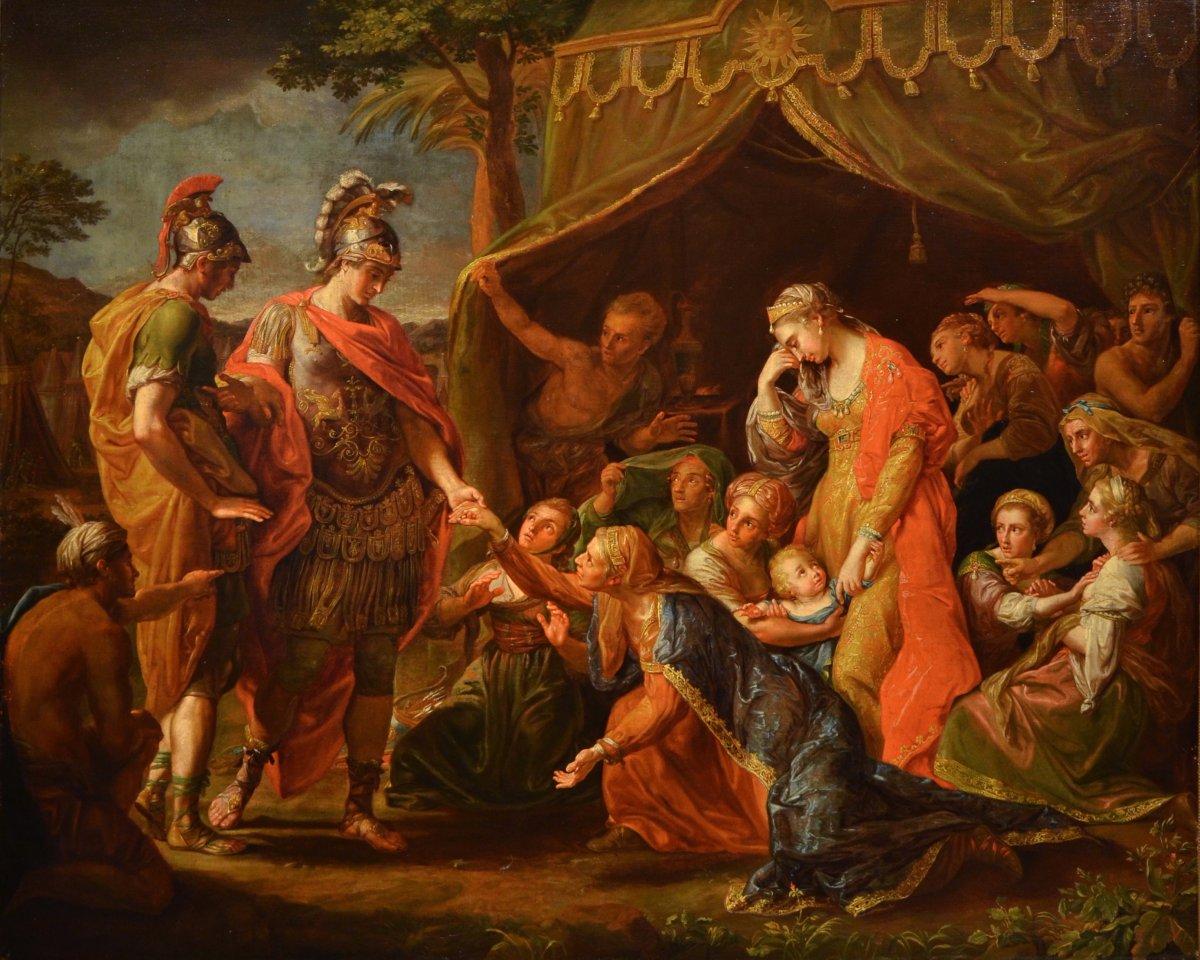 Alexander The Great Visits Dario's Family, Pompeo Girolamo Batoni (1708 - 1787) And Atelier