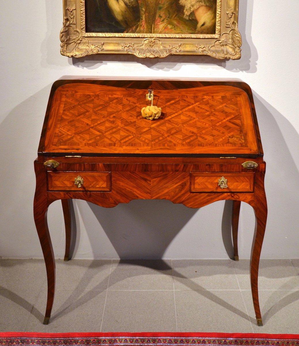 Bureau De Pente Louis XV, Paris Vers 1750, Atelier Pierre II Migeon (Paris 1696-1758)