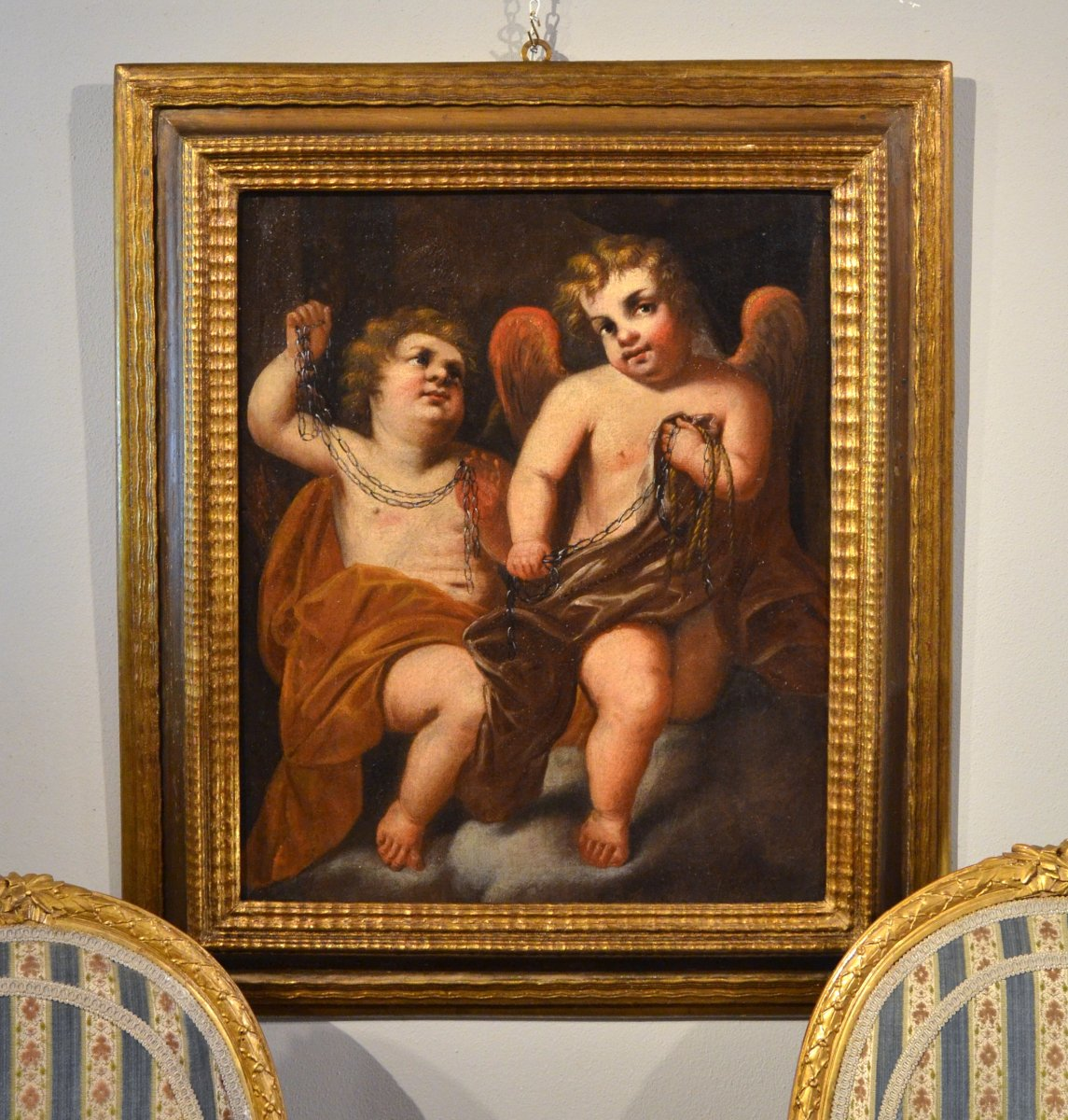 Giovanni Battista Merano (genoa 1632 - Plaisance 1698), Pair Of Winged Putti