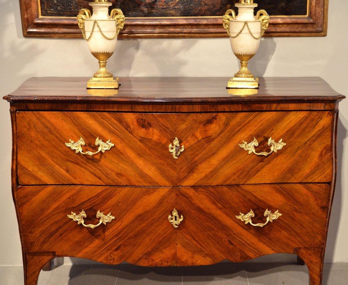 Splendide Commode Louis XV à Deux Tiroirs, Gênes, Première Moitié Du XVIIIe Siècle-photo-8