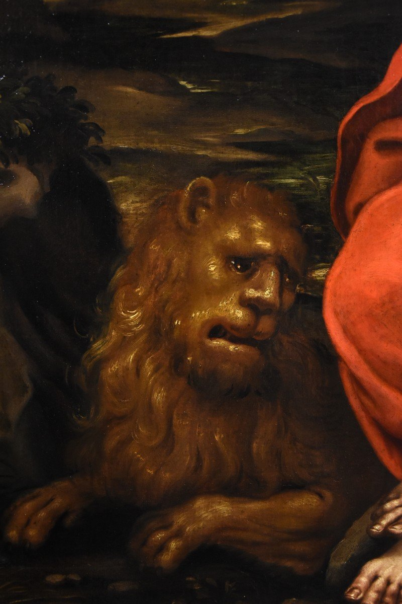Saint Jérôme Pénitent, Atelier De Jacopo Negretti, Palma Le Jeune (Venise 1544 - 1628)-photo-4