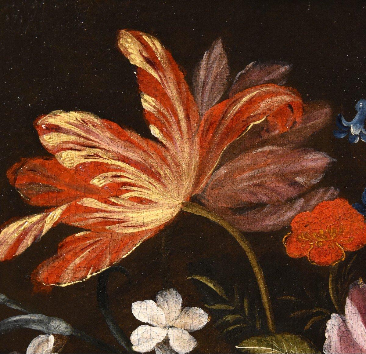 Gaspar Peeter Verbruggen (Anvers 1664-1730), Splendide Nature Morte Avec Vase De Fleurs  (II/II)-photo-1