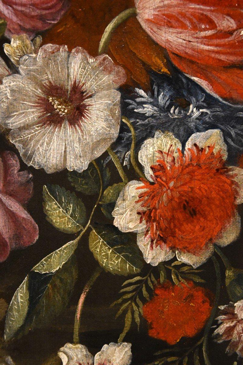 Gaspar Peeter Verbruggen (Anvers 1664-1730), Splendide Nature Morte Avec Vase De Fleurs  (II/II)-photo-3