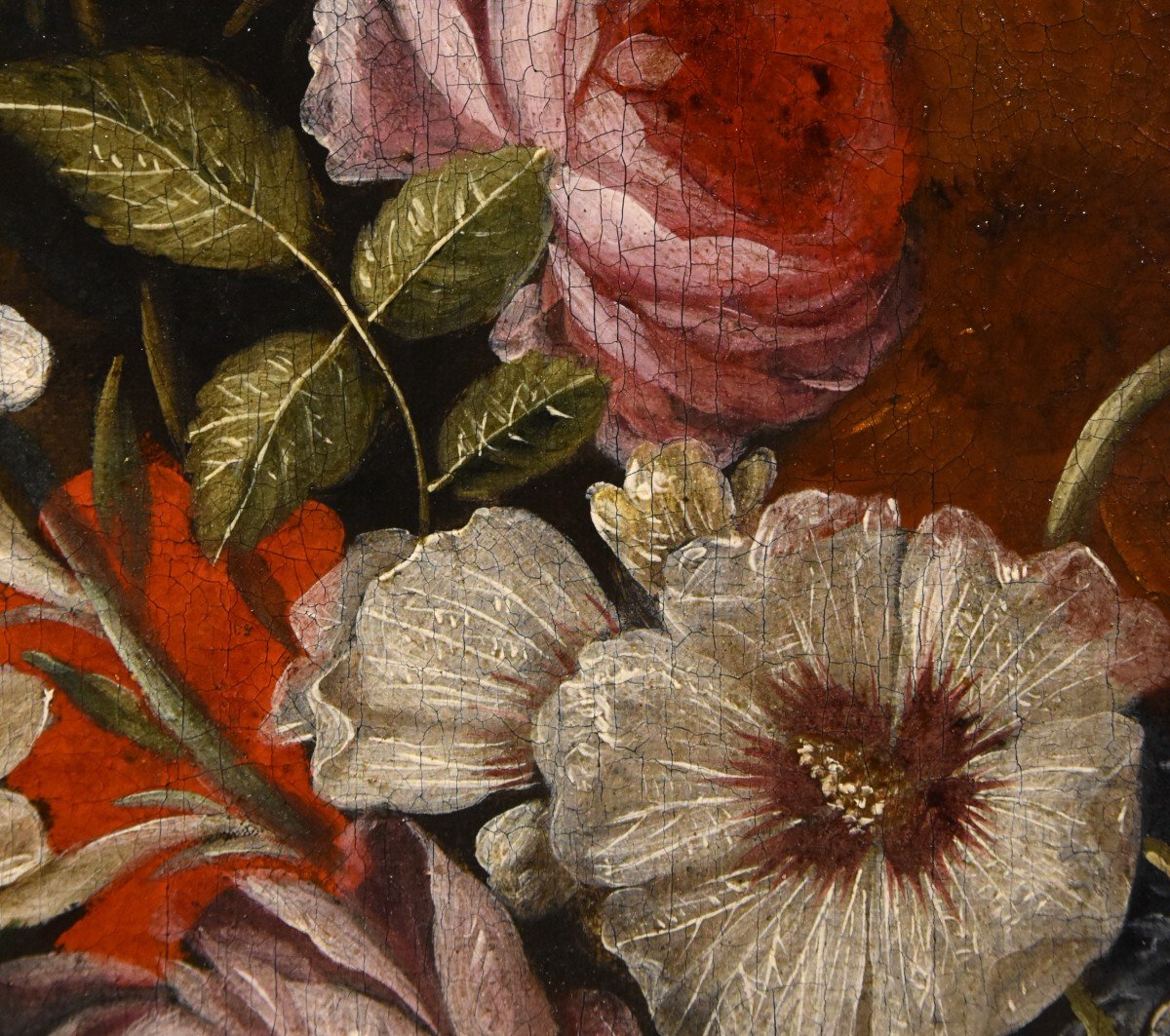 Gaspar Peeter Verbruggen (Anvers 1664-1730), Splendide Nature Morte Avec Vase De Fleurs  (II/II)-photo-6