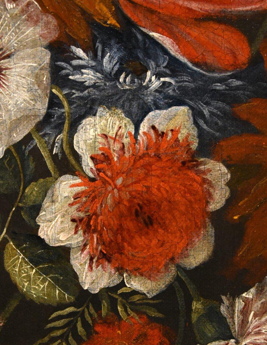Gaspar Peeter Verbruggen (Anvers 1664-1730), Splendide Nature Morte Avec Vase De Fleurs  (II/II)-photo-7