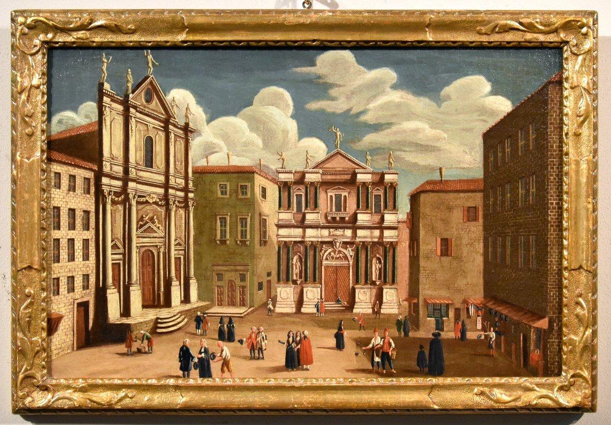 Gabriele Bella (Venise 1730-1799), Vues De Venise: Le Fondaco dei Tedeschi /Le Campo San Salvador