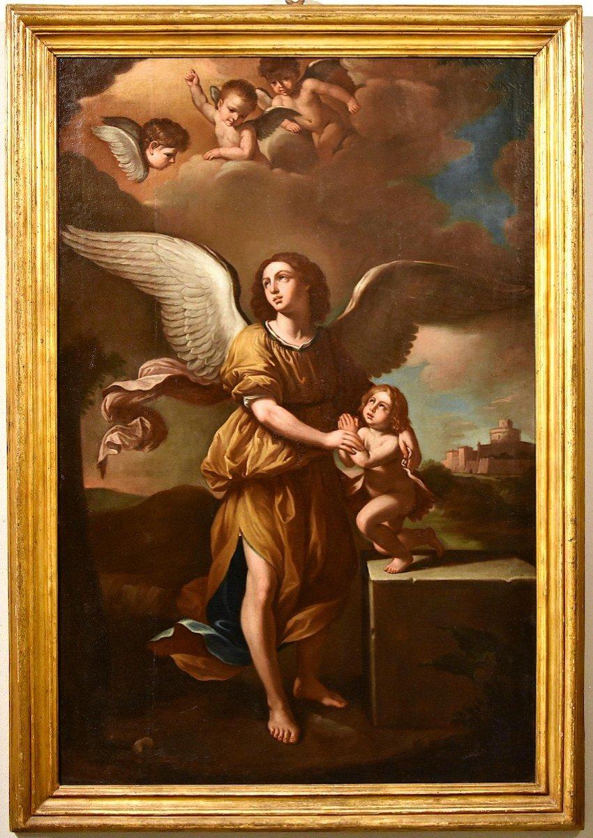 L'Ange Gardien, Giovanni Francesco Barbieri, Il Guercino (Cento 1591 - Bologne 1666) Atelier de