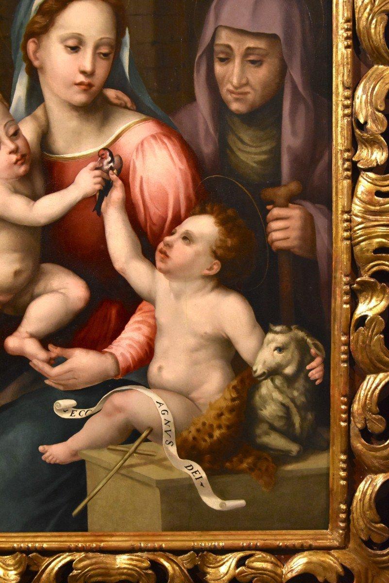 Giovanni Battista Del Verrocchio (florence 1494 - 1569), Virgin And Child, Saint John And Saint Anna