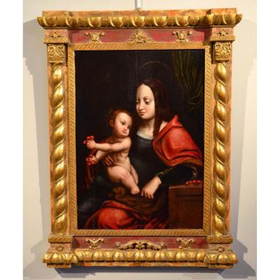 Vierge Des Cerises - Ecole Flamande Du XVIème Siècle (cercle De Joos Van Cleve)