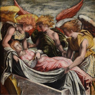 Ecole Vénitienne Du XVIe Siècle, Atelier De Jacopo Tintoretto, Déposition De Sainte Catherine