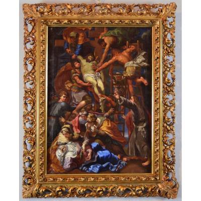 La Descente De Croix - Peintre Romain Du XVIIe Siècle, Disciple Du Daniele Da Volterra