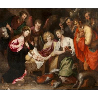Nativité Adoration Des Bergers , Gaspar De Crayer (1582 - 1662)