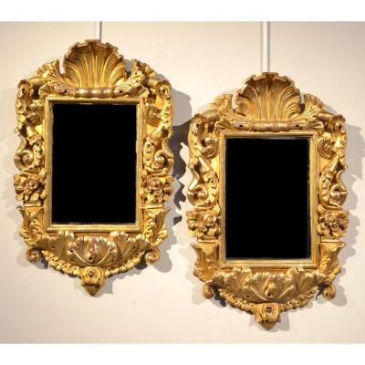 Pair Of Mirrors From The Eighteenth Century, Genoa Around 1770