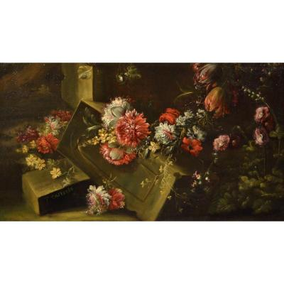 Signed Pieter Casteels III (antwerp 1684 - Richmond 1749), Floral Still Life
