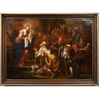Adoration Of The Magi, Great Work By Sebastiano Conca (gaeta 1680 - Naples 1764)