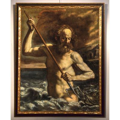 Giovanni Francesco Barbieri 'il Guercino' (1591–1666) Workshop, The God Poseidon