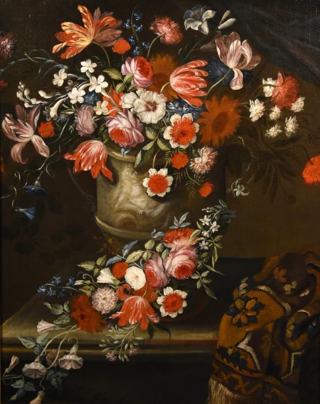 Gaspar Peeter Verbruggen (Anvers 1664-1730), Splendide Nature Morte Avec Vase De Fleurs  (II/II)-photo-2