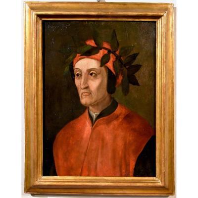 Ecole Florentine XVIe Siècle, Portrait De Dante Alighieri (Florence 1265 - Ravenne 1321)