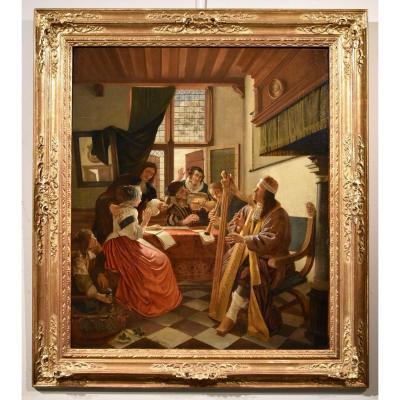 Cornelis De Man (delft 1621 - 1706),  Musical Company In An Interior