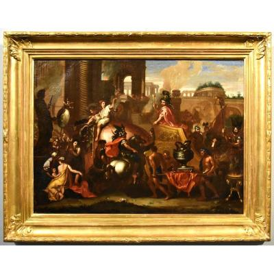 The Triumph Of Alexander The Great, 17th Century French School From Charles Le Brun (paris 1619 - 1690)