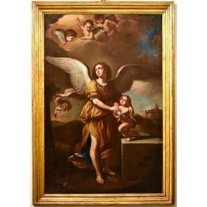 The Guardian Angel, Giovanni Francesco Barbieri, Il Guercino (cento 1591 - Bologna 1666) Wokshop