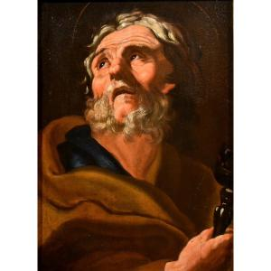 The Apostle Peter, Peinter Active In Rome In The 17th Century
