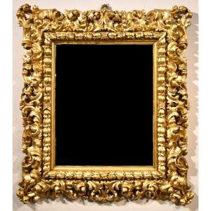 Grand Miroir Louis XIV Richement Sculpté Et Doré, Florence Fin XVIIe Siècle