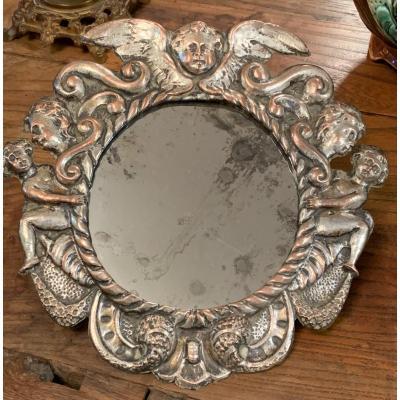 Miroir En Métal Argenté - Luigi Filippo