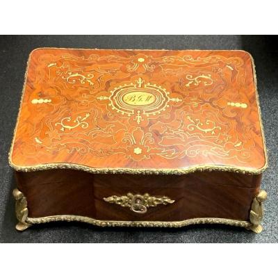 Boîte, coffret à Bijoux Incrustée - 19e Siècle
