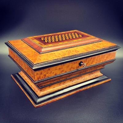 Boîte, coffret à Urne Avec Secret - Charles X