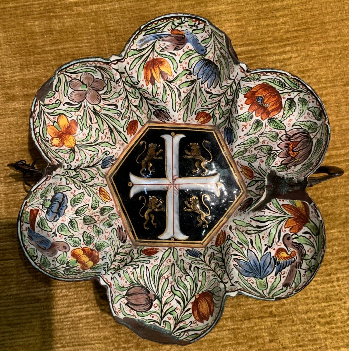 Enamelled Bowl From Limoges. 1650-1690