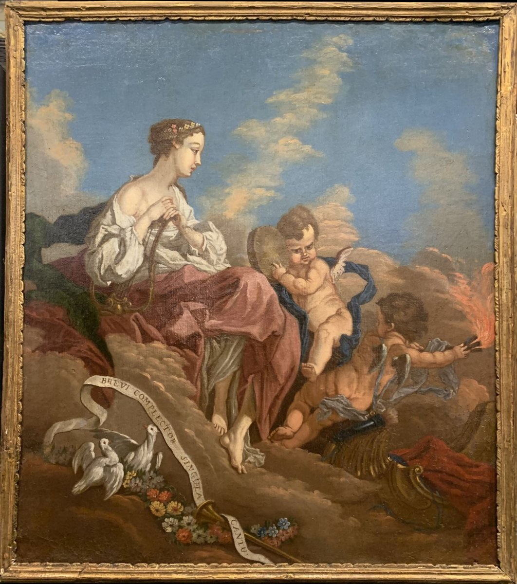 Allegory Of Lyric Poetry And Dance With Musa Terpsichore.