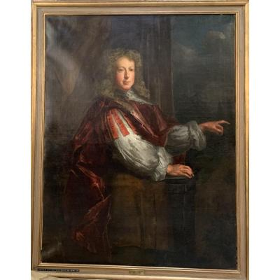 Portrait Of An English Nobleman. Dated 1764.