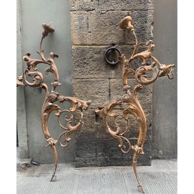 Deux Bras Porte-bougie.  XVIII Siècle.