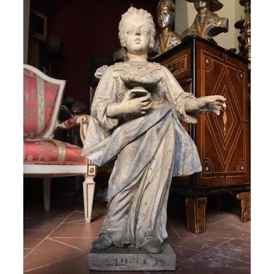 Statue De Sainte Lucie.  Pierre De Vicence.  Fin XVIIe