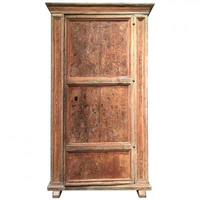 Late 16th Century Italian Cupboard In Painted Wood