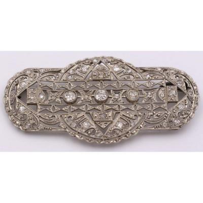 Broche Platine Platine Recouverte Entièrement De Diamants 1930