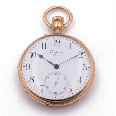 Montre De Poche En Or 18k Longines 1880