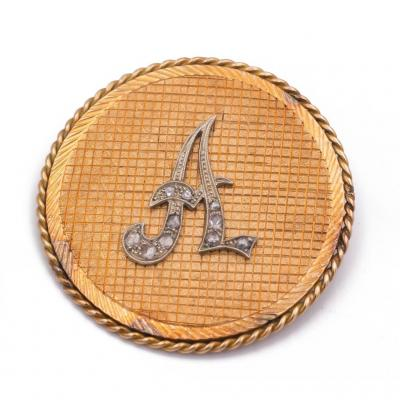 Broche En Or 18k Et Diamants
