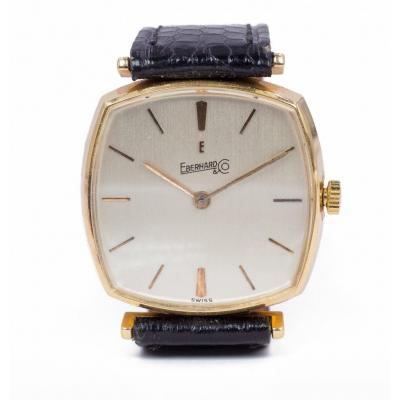 Vintage Eberhard Watch In 18k Gold, 1960s / 1970s
