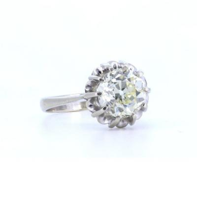 Solitaire Ring In 18k Gold With Diamond Of 2.70 Ct, 1940s