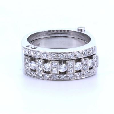 Gianni CaritÀ Articulated Ring In 18k Gold With Brilliant Cut Diamonds