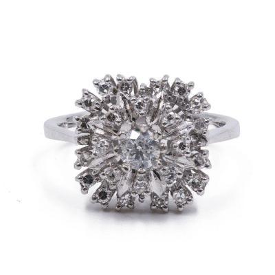 Bague Vintage En Or 18 Carats Et Diamants (0.75 Ct)