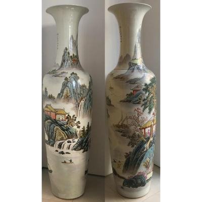 Pair Of Porcelain Vases, China
