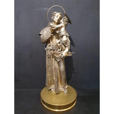 Saint Anthony In Silver