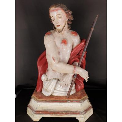 Ecce Homo Du XVIII Siècle, Sculpture Napolitaine