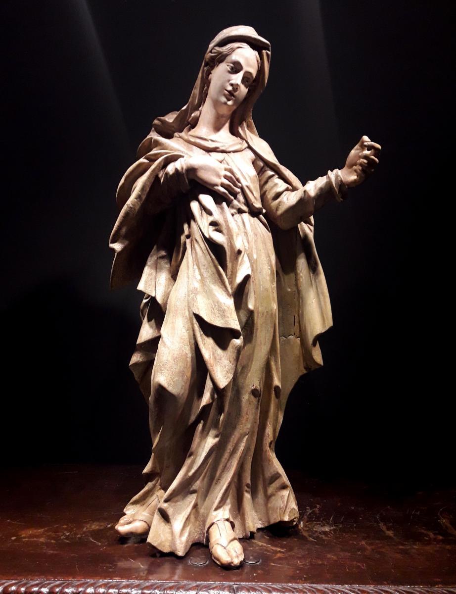 Sculpture En Bois Du XVIème Siècle - Madonna