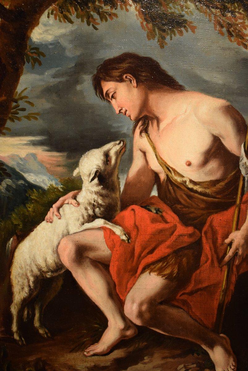 Saint John The Baptist In The Desert With The Lamb Of God