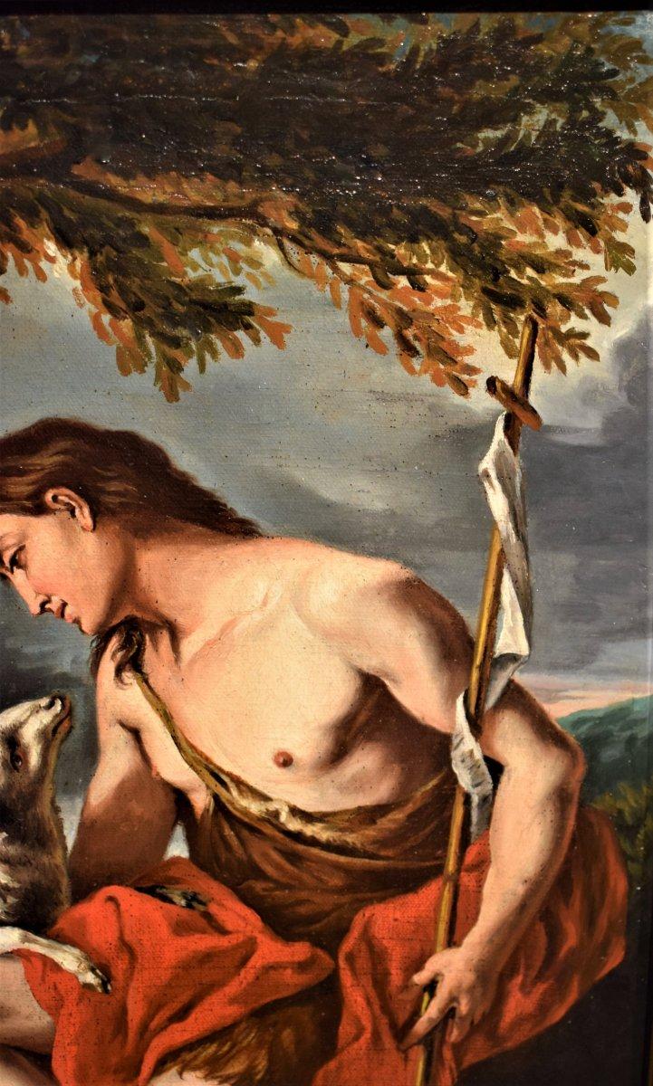 Saint Jean Baptiste Dans Le Désert Avec l'Agneau De Dieu