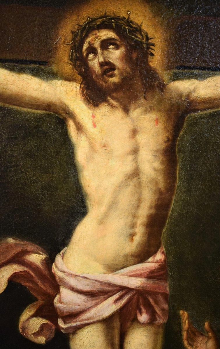 """""""La Crucifixion Du Christ""""  Flamand  début de XVIIe siècle"""
